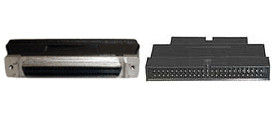 IDC50 male to HD68 Female SCSI adapter