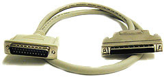 SCSI cable, DB25 Male to HD68 Male, 6 feet long