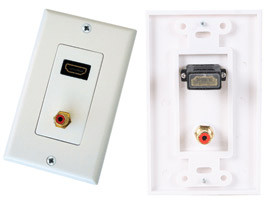 Wall Plate with HDMI and RCA connector