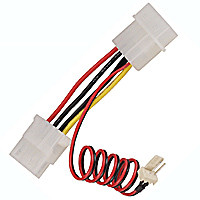 3-pin cpu power connector to 4-pin power connector adapter