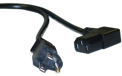 AC Power cord, UL CSA, Right angle, 6 feet long