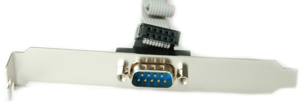 DB9 on Bracket for RS232 Serial Port with 10 inch cable to IDC10 Connector