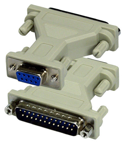 Serial Adapter, DB9 Female to DB25 Male