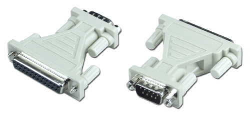 Serial Adapter, DB9 Male to DB25 Female