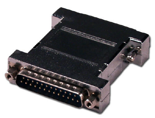 Null Modem Adapter, DB25 Male to Male