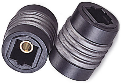 Toslink coupler, female to female, joins two Toslink cables