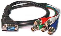 VGA to 5-BNC Connector Adapter Cable