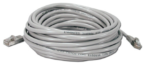 Cat6 Plenum rated, Solid Conductor, shielded patch cable