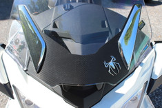 Pare-brise Autocollant 3M Fibre Carbone Noir RT (SANS TROUS)