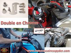 CHROME Lidlox serrure pour casque de moto pour Spyder (PAIRE)