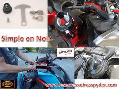 NOIR Lidlox serrure pour casque de moto pour Spyder (SIMPLE)