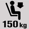 Tested to 150 kg