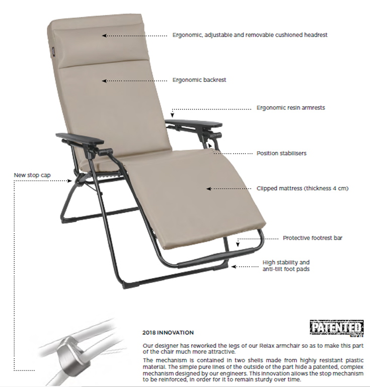Lafuma Vital Chair Zgr Plus Healthcare Recliner Healthy Posture