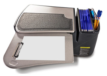 AutoExec Desk GripMaster-01 with Pull-Out Writing Surface, Gray