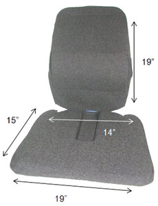 Mccarty's SacroEase Trimet RX Posture Correction Seat Back Support
