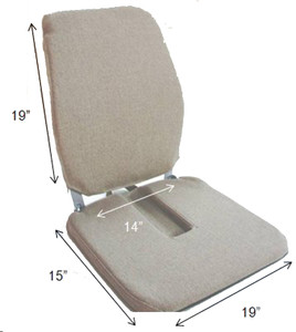 Mccarty's Sacro Ease Trimet RX CF Premium Seat and Back Support