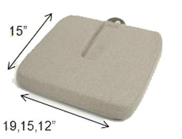McCart's Sacro Ease RX  Coccyx Cutout Seat Cushion Models  – RCRX, RSCRX, RNCRX