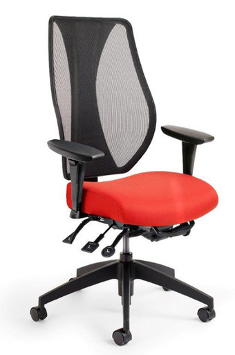 tCentric Hybrid Ergonomic Task Mesh Chair by ErgoCentric - Multi Tilt Series