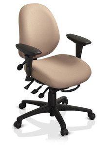 ergoCentric Chair - Petite Mid Back Task Chair - geocentric Multi Tilt Series