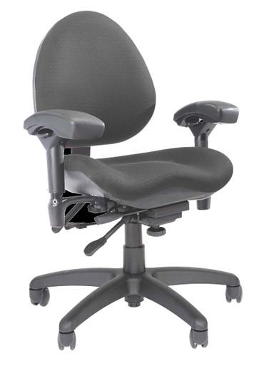 BodyBilt Contour Task Chair Mid Back (Z757) by ErgoGenesis