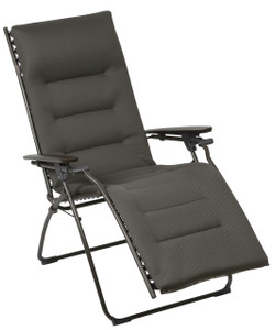 Lafuma Evolution Recliner, Acier with Padded Air Comfort Cushion