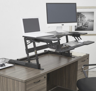Multiposition Desk Riser from OSP Furniture DR3622-BK