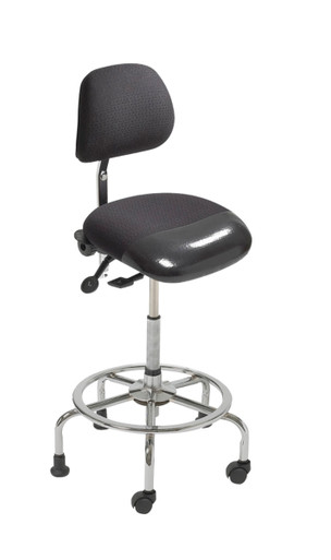 ergoCentric 3-in-1 Sit-Stand Chair With Foot Rest Ring