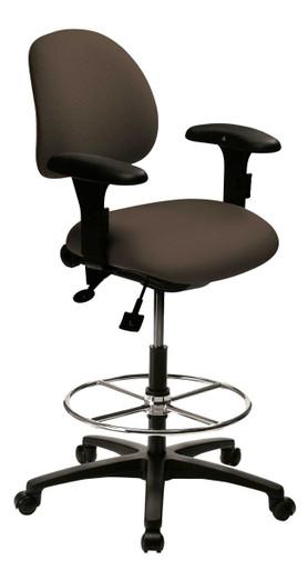 Saffron R Task Stool Upholstered Back, Custom Options