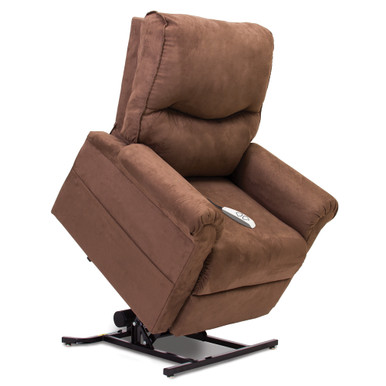 Pride 3-Position Power Lift Recliner - Pride LC-105 Essential Collection Micro Suede Cocoa