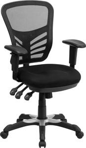 Contemporary Mesh Mid Back Ergonomic Office Chair, Black