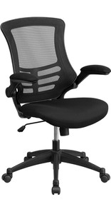 Task Office Chair with Flip UP Arm, Black Mesh