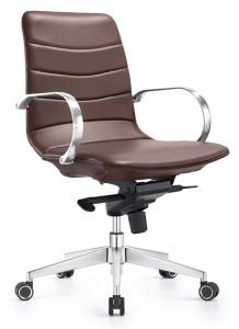 Stylish Marie Knee Tilt Swivel Chair, Chestnut Brown