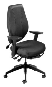 airCentric 2 Desk Chair for Tall Users with Swivel Arms