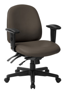 Office Star Products Antimicrobial Task Chair in Graphite – Quick Ship