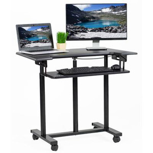 "VIVO Mobile Standing Workstation, Computer Desk Cart, 35"" Black"