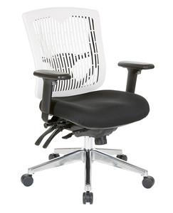 Office Star White Contoured Plastic Back  Ergonomic Task Chair