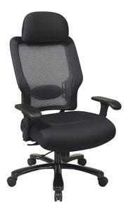 OSP Heavy Duty 400 LBS Capacity Big and Tall Task Chair with Headrest