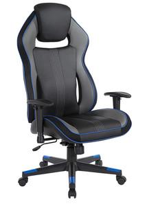 DESIGNlab BOA II Gaming Chair By OSP Furniture, Blue/Black