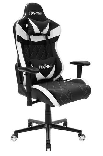 Techni Sport RTA-TSXL1-WHT White GamerXL Series Gaming Chair