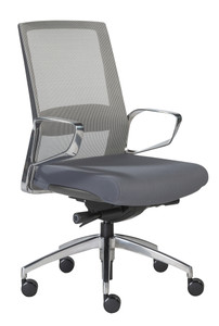 Euro Style Gray Mesh with Lumbar support Alpha Task Chair