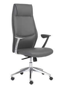 Crosby High Back Office Chair by Euro Style , Gray