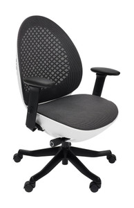 Deco Lux Modern & Contemporary Office Chair, White
