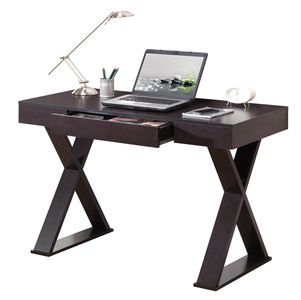 Trendy Writing & Computer Desk with Drawer, Espresso