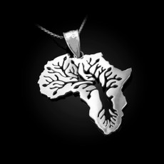 Sterling Silver Africa Tree of Life Pendant Necklace