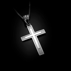 Sterling Silver Inner Cross Pendant Necklace