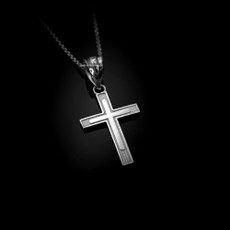 Sterling Silver Inner Cross Charm Necklace