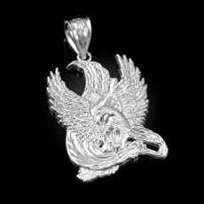 Sterling Silver High Polished Eagle Pendant