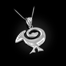 Sterling Silver African Adinkra Sankofa Bird Pendant Necklace