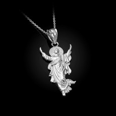 Resurrection of Jesus Christ Pendant Necklace in Sterling Silver