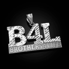 Sterling Silver B4L Brothers 4 Life Mens DC Pendant